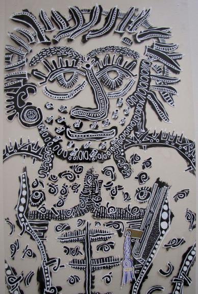 B&W - Detail of Standing Man by E.G.Silberman, 2006