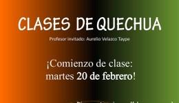 Clases de Quechua en EVA