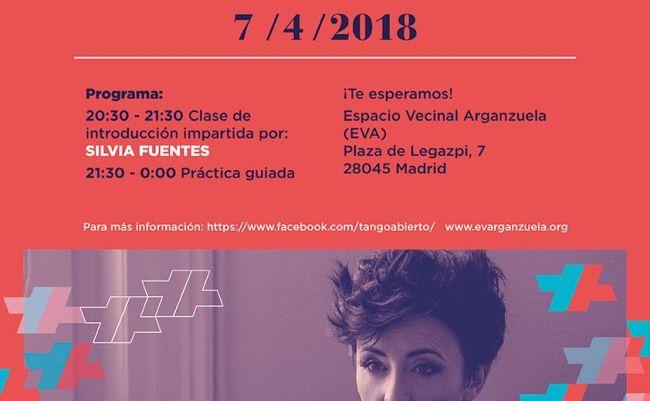 Clase y práctica de tango con Silvia Fuentes