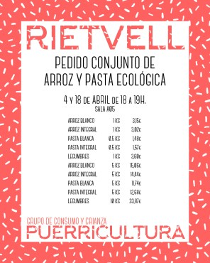 Pedido colectivo entre los diferentes grupos de consumo de Arganzuela