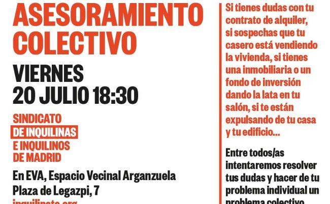 Asesoramiento colectivo Sindicato de Inquilinas en Espacio Vecinal Arganzuela