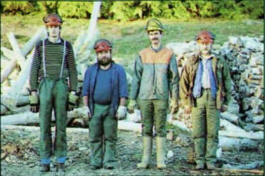 L'équipe de bucheron
