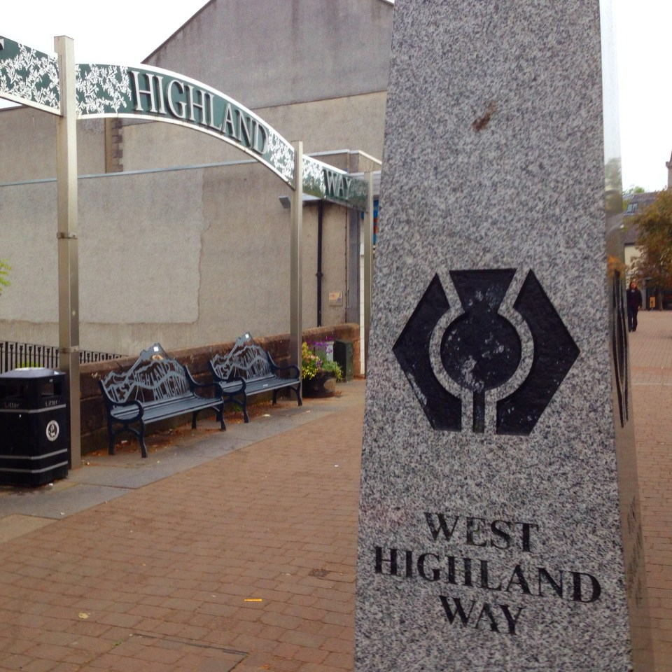 Start of the West Highland Way