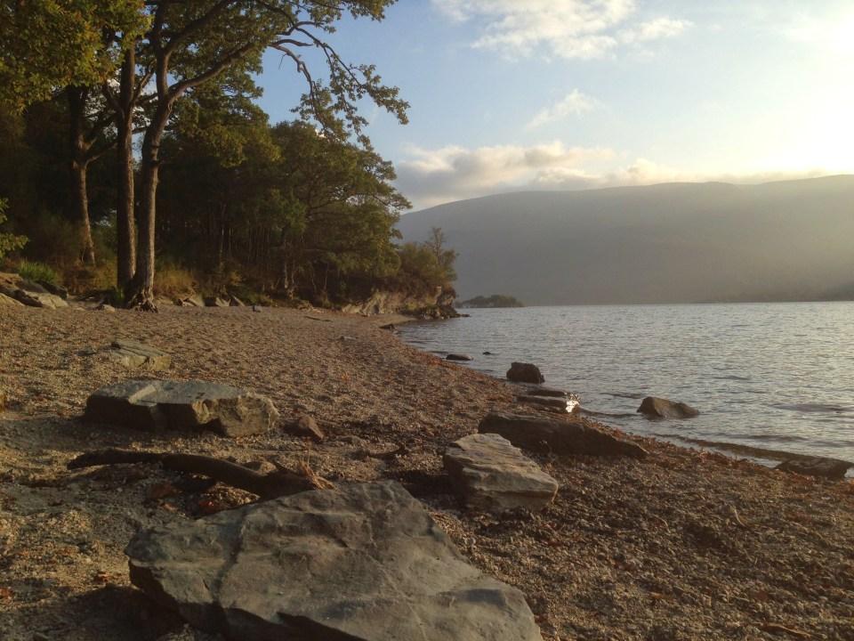 A nice beach on Loch Lomond