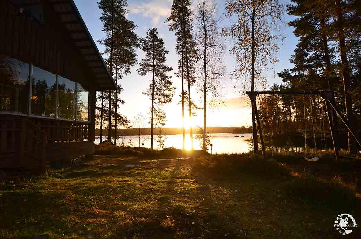 coucher de soleil Finlande