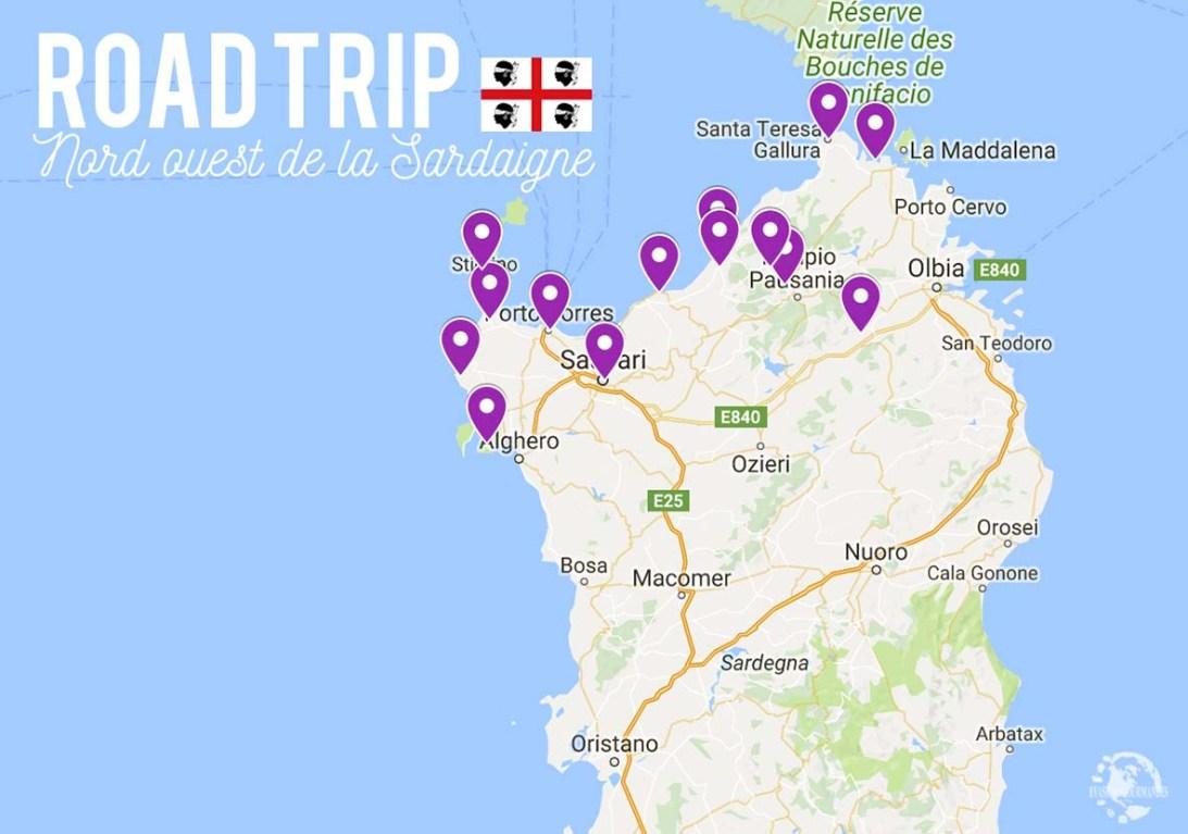 Carte Sardaigne Nord.Road Trip Dans Le Nord Ouest De La Sardaigne Que Voir Que