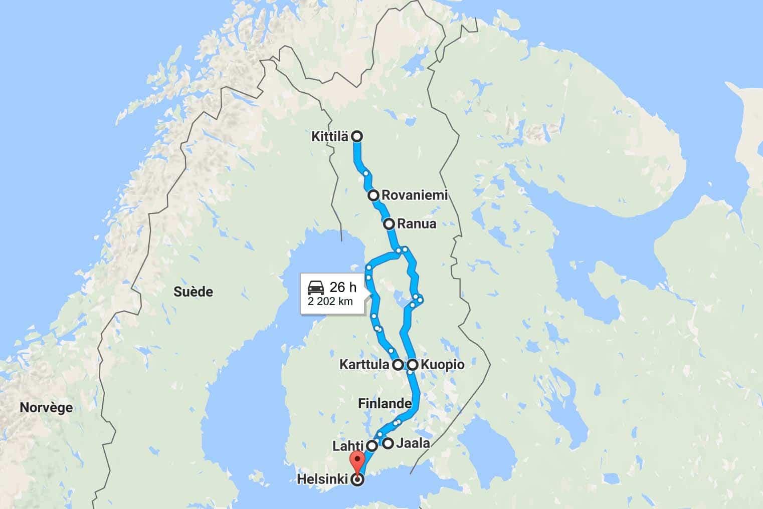 Road trip en Laponie