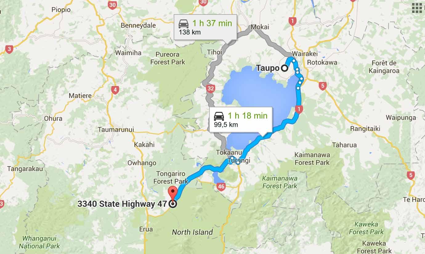 itinéraire Tongariro