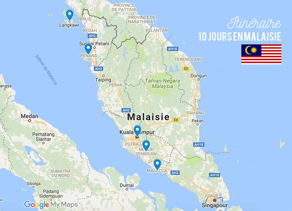 Itinéraire Malaisie