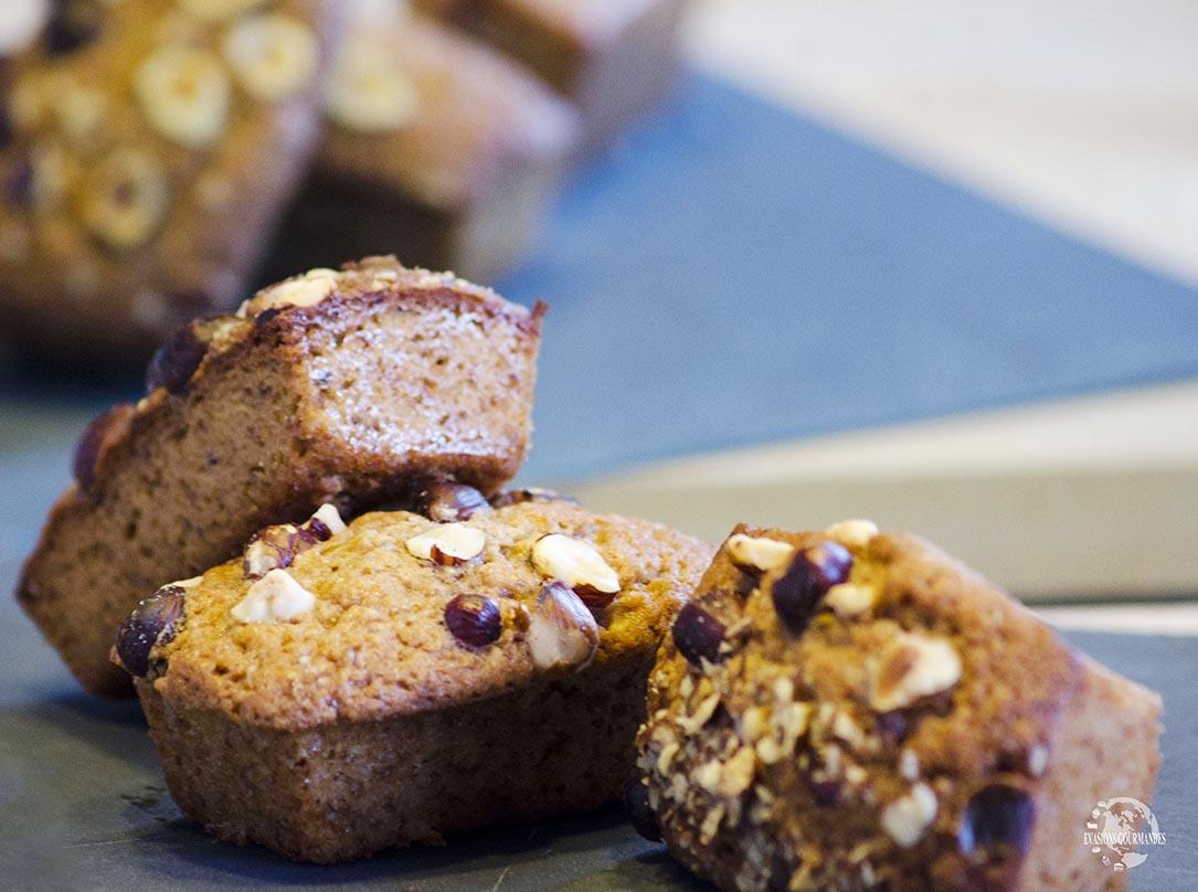 Minis cakes aux noisettes et praliné