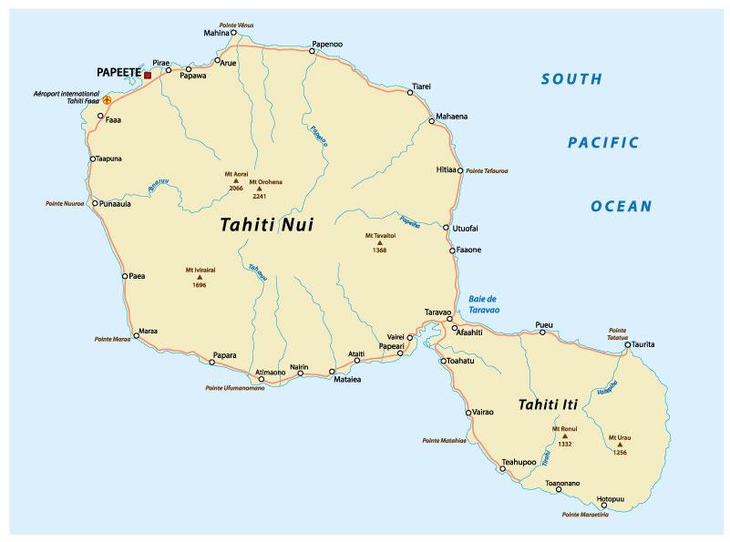 Carte Tahiti