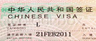 Visa pour la Chine