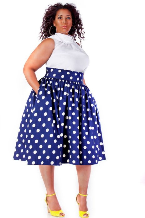 A-line-Skirt-Plus-size