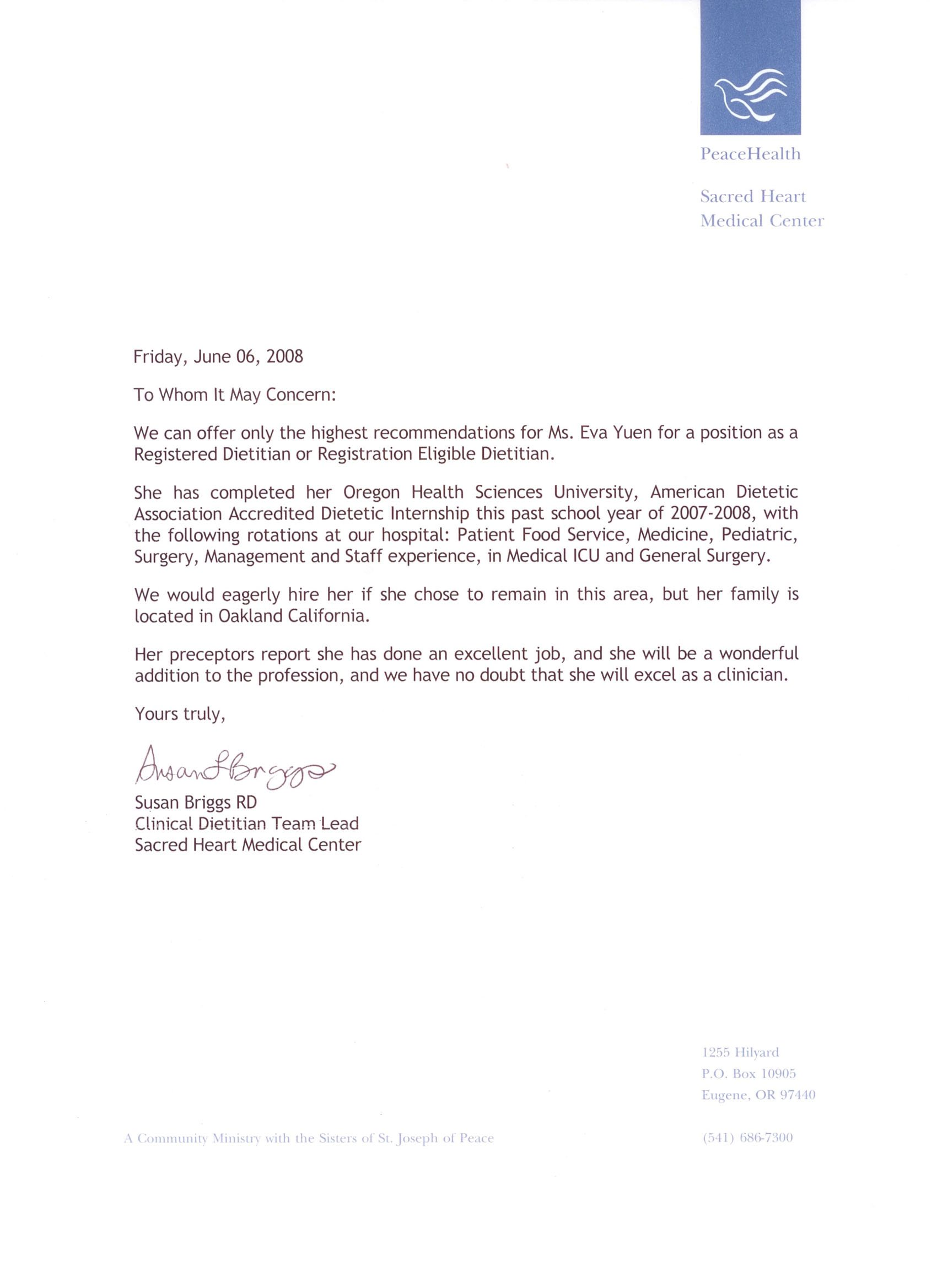 medical recommendation letter recommendation letter  assistant recommendation letter medical recommendation