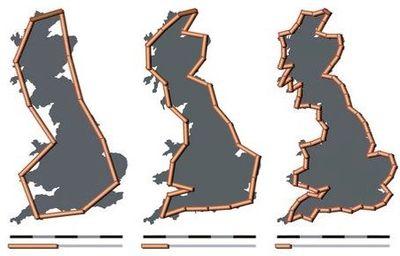 fractale Britain-fractal-coastline-combined