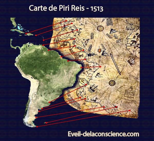 1_Piri Reis - Géographe Cartographe 1513 - Eveil-delaconscience