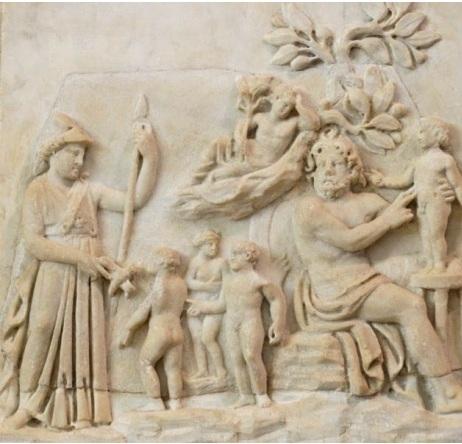 Prométhée créa l'homme assisté d'Athena, Musée du Louvre