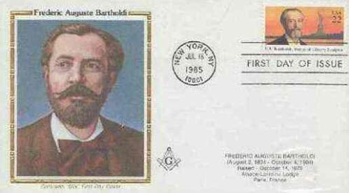 Statue de la liberté et Frédéric Auguste Bartholdi