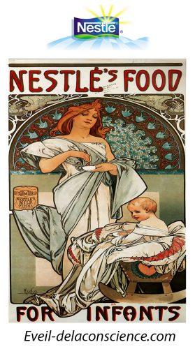 3_Nestlé recrute 1.000 robots français pour devenir vendeurs - Affiche publicitaire réalisée par Alfons Mucha en 1897 copie