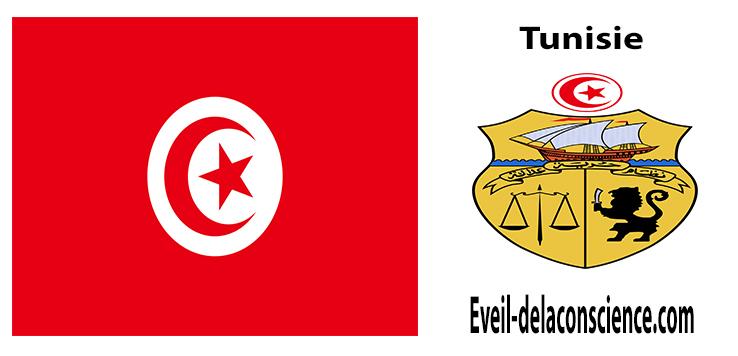 Tunisie - drapeau et sceau