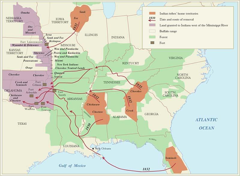 3_Cartographie schématique de l'Indian Removal Act