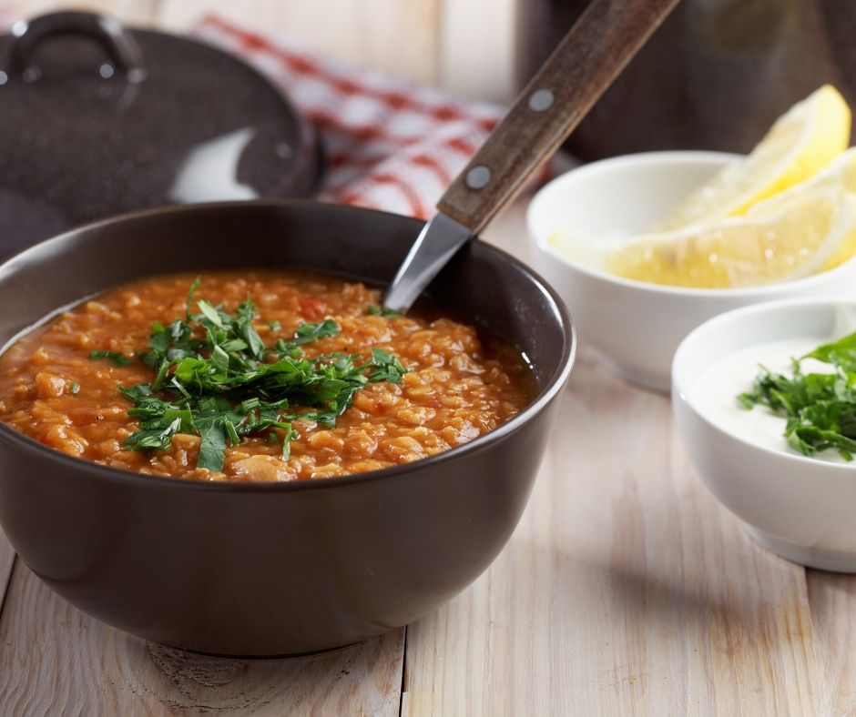 A nice day for a warming lentil soup