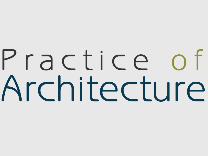 Practice of Architecture Logo, Evelyn Lee, Architecture Practice