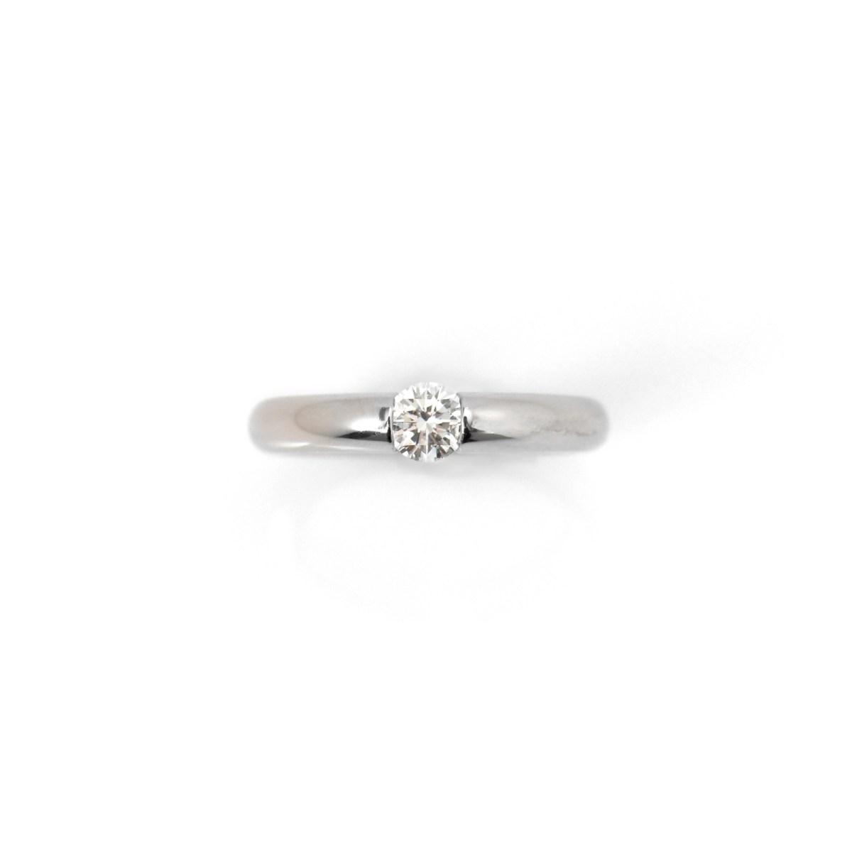Solitaire platine diamant, 0,33 ct, qualité G VS, taille 47, Prix : 1 870 € • EVENOR, Joaillerie spécialiste des Bijoux Vintage. - Référence BA-B12946