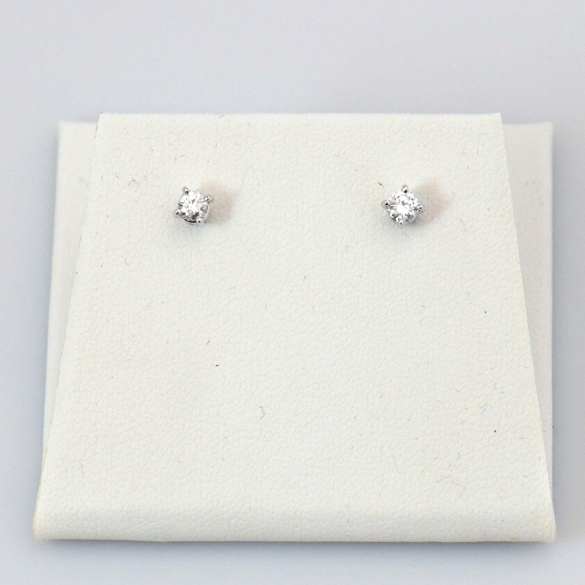 Clous d'Oreilles Solitaires Diamants • Bijou neuf | EVENOR Joaillerie
