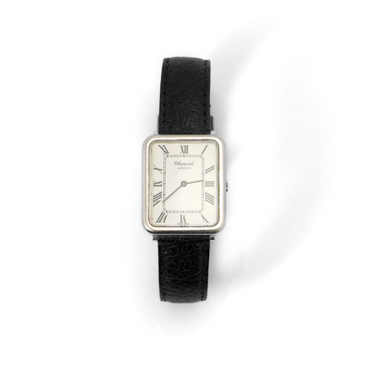 Montre CHOPARD pour Homme, or blanc 750 ‰, mouvement mécanique | EVENOR Joaillerie • Montres de grandes marques Vintage | Réf. MO-B18635