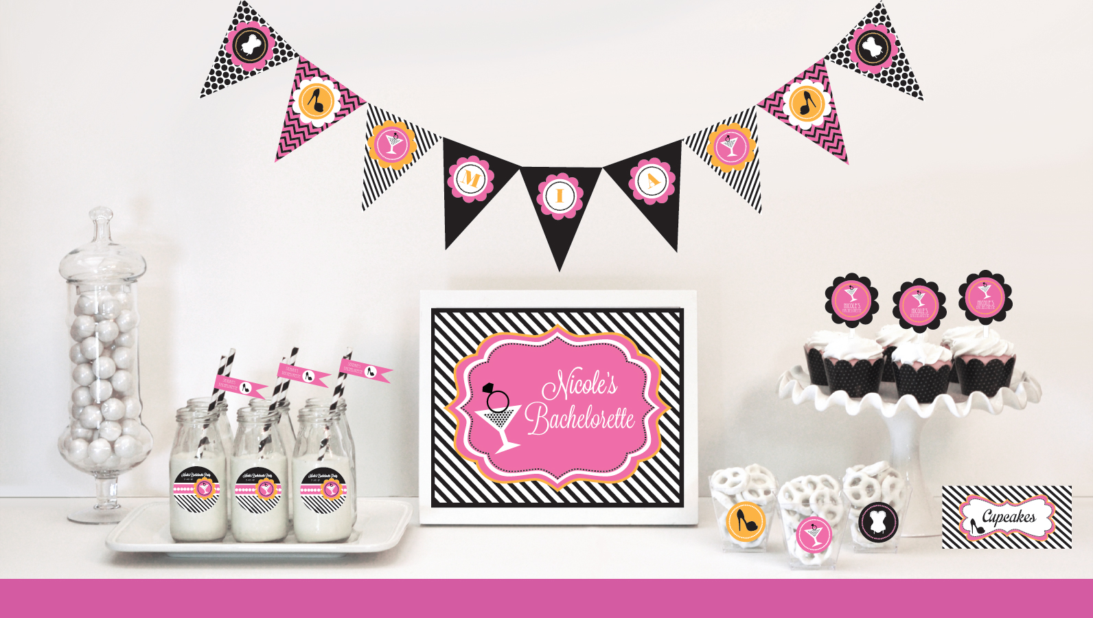 Vegas Themed Bridal Shower Invitations