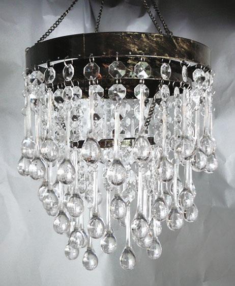 Decostar Grand Cascade Chandelier Iridescent Crystal 7ft Long