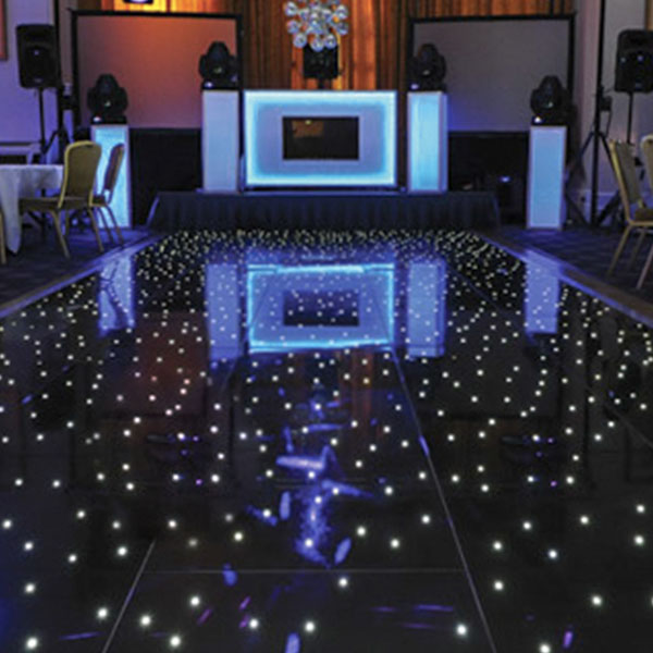 Black LED Starlight Dance Floor Kit 16ft X 16ft