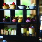 Little Fox Hotel: afternoon tea including scones, sandwiches and macarons