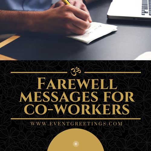 farewell messages for coworker's  good bye quotes