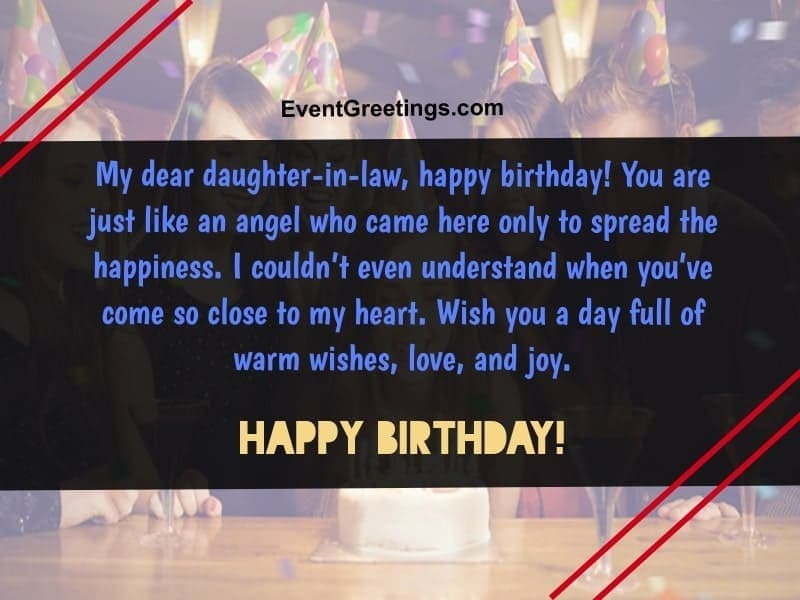 50 Sweet Happy Birthday Daughter In Law Quotes And Wishes