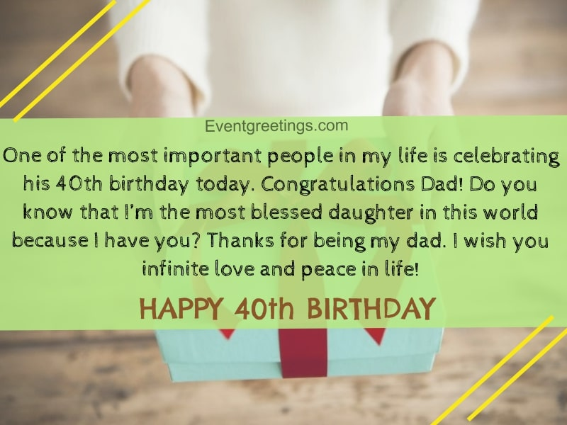 40 Extraordinary Happy 40th Birthday Quotes And Wishes
