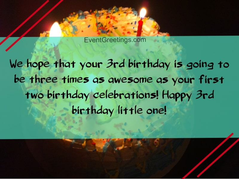 20 Best Happy 3rd Birthday Quotes And Wishes