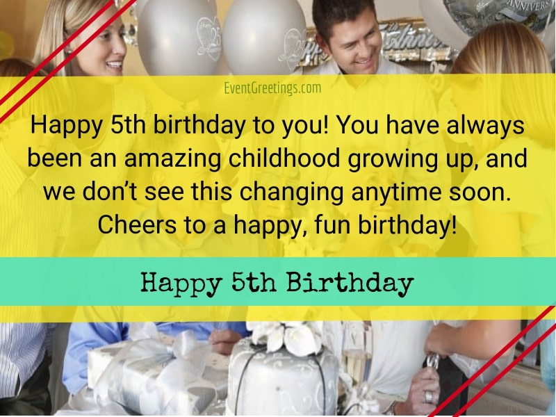 25 Cute Happy 5th Birthday Quotes And Wishes For Dearest One