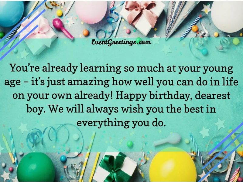 35 Birthday Wishes For Boy Happy Birthday Boy Events Greetings