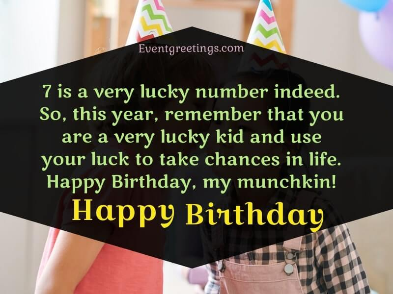 Happy 7th Birthday Birthday Wishes For 7 Year Old Events Greetings