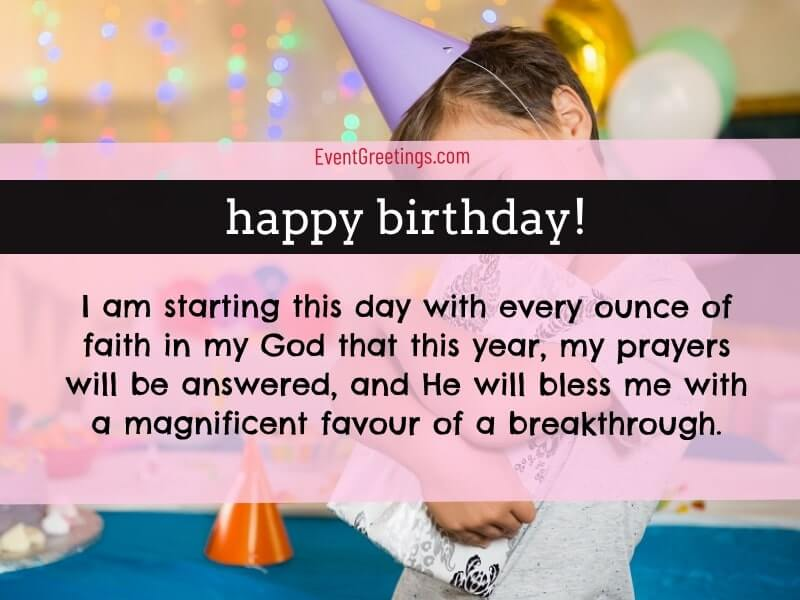 Birthday Prayers For Myself To Thank God Events Greetings
