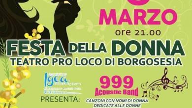 Festa della donna Proloco di Borgosesia 8 marzo 2018