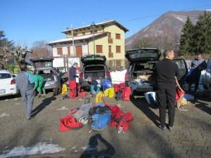 Partecipanti al Corso di Speleologia CAI Varallo