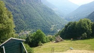 Una gita all'Alpe Solivo in Val Sermenza. Il panorama dal rifugio.