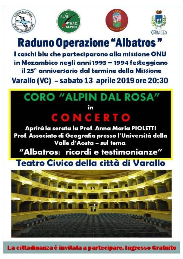 Raduno Operazione Albatros Varallo Aprile 2019 locandina evento