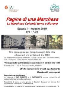 La Marchesa Colombi a Novara locandina