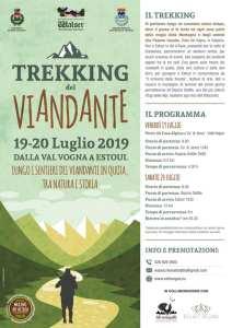 Programma Trekking del viandante luglio 2019 locandina