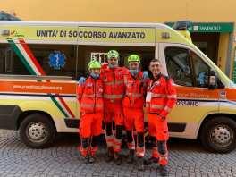 Inizio gara - equipaggio Piemonte