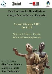 Locandina coll. etnografica Calderini